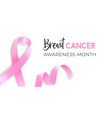 breast cancer pink ribbon awareness month with vector image