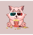 Cat watching a movie vector image vector image