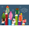 Christmas and New Year symbols and gifts vector image