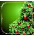 Christmas fir vector image