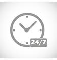 Clock black icon vector image vector image