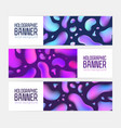 collection of trendy horizontal banner templates vector image