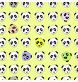 color panda head china design vector image vector image