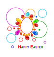 colorful easter background vector image vector image