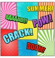 comic book page elegant composition vector image