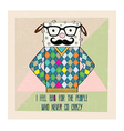 cool sheep hipster hand draw vector image