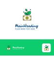 creative money plant logo design flat color logo vector image