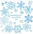 cute snowflakes set vector image vector image