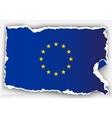 design flag european union from torn papers vector image vector image