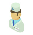 doctor man asian icon isometric 3d style vector image vector image