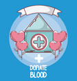 donate blood cartoons card vector image vector image