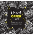 fast food hand drawn special offer on vector image vector image