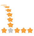 five star rating different ranks vector image vector image