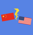 flag china and flag united states vector image vector image