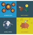 flat design icon set vector image vector image
