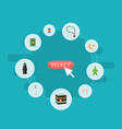 flat icons islamic lamp bead malay and other vector image vector image