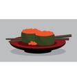 flying fish sushi set japan food vector image vector image