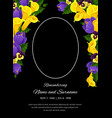 funeral card template condolence frame vector image