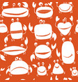 funny friends crabs seamless pattern for your vector image vector image