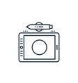 graphic tablet icon isolated on white background vector image vector image