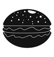 hamburger icon simple style vector image vector image