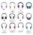 headphones equipment music technology headset vector image vector image