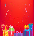 holiday greeting card concept with gift boxes vector image