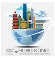 Hong Kong Landmark Global Travel And Journey vector image
