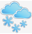 Icon of snow weather vector image