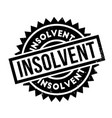 insolvent rubber stamp vector image vector image