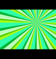 Light Ray Burst Abstract Background Green vector image vector image
