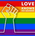 love knows no gender - lgbt typography design vector image