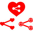 love share icons vector image vector image