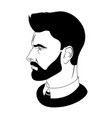 man hairstyle barber shop for your design vector image vector image