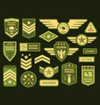 military badges american army badge patch or vector image vector image