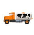milk tank truck vector image