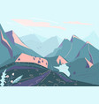 mountain landscape background with hill vector image