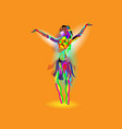 multicolored abstraction with a dancing girl vector image vector image