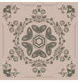 pattern with floral ornament vector image vector image
