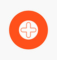 plus sign hospital medical vector image vector image