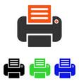 print flat icon vector image vector image
