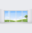 room with panoramic window vector image vector image