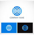 round geometry circle company logo vector image