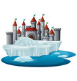 scene with castle towers on ice vector image vector image