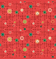 seamless abstract retro holiday pattern vector image
