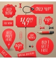 set commercial sale and discount stickers vector image vector image