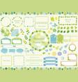 set of assorted botanical frames vector image vector image