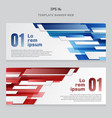 set of banner web template technology geometric vector image vector image
