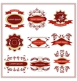 Set of stickers emblems with floral patterns vector image