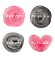 set watercolor hand drawn circles background vector image